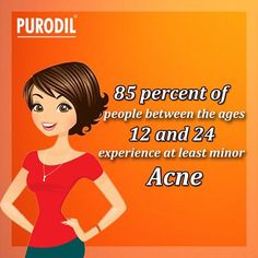 #DoYouKnow? 85% of people between the ages 12& 24 experience at least minor #Acne.