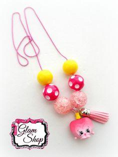 Shopkins Necklace Tassel Necklace  Shopkins by GlamShopBeads