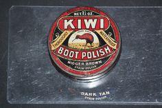 Kiwi Boot Polish before Dark Tan the color was called Nigger Brown