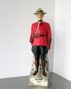 Canadian Mountie Whiskey Decanter Canadian Mist by Sfuso on Etsy Go Tv, Whiskey Decanter, Mists, Police, Vintage Items, Trending Outfits, Shops, Canada, Collection