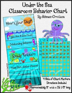 Under the Sea Classroom Behavior Chart from Johnson Creations on TeachersNotebook.com -  (8 pages)  - This colorful $2.50 chart will not only brighten your classroom, it will help improve your students' behavior!