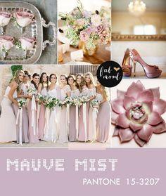 Mauve Mist Wedding - - Pantone fall 2014 wedding colors