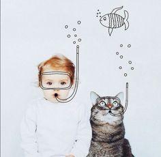 Когда кот твой друг: фотограф создаёт уникальный проект   Котики и няшки