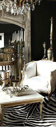 Living room - antique style -  via Christina Khandan - Irvine California - www.IrvineHomeBlog.com