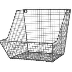 These would be great for non-kids too. Kids Storage: Wire Wall Storage Bins in Storage Collections Wire Fruit Basket, Wire Basket Storage, Wire Storage, Wire Baskets, Kids Storage Bins, Kitchen Storage, Storage Organization, Fruit Storage, Sports Storage