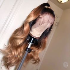 Human Virgin Hair Ombre Honey Blonde Pre Plucked Lace Front Wig For Bl – FashionPandaCity Honey Blonde Hair, Blonde Wig, Ash Blonde, Ombré Hair, Lace Hair, Hair Weft, Brown Ombre Hair, Ombre Hair Color, Black Ombre