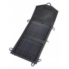 Portable Solar Panel Charger  $60.00  Portable solar power at your fingertips! Take advantage of the latest in solar technology with the Portable Solar Panel Charger. Made of durable nylon with a thin solar cell and sized to pack in your backpack or carryon, you can charge your handheld electronics anywhere there's sunlight. #solarEnergy #FathersDay #bambeco