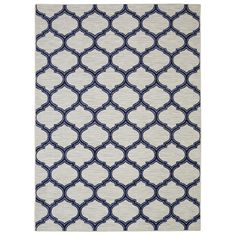 Mohawk Home Glenn Navy Blue Rectangular Indoor Tufted Area Rug (Common: 5 x 8; Actual: 60-in W x 96-in L x 0.5-ft Dia)