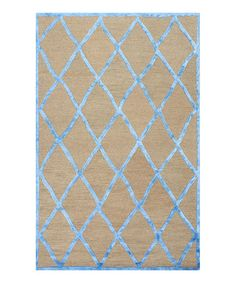 Another great find on #zulily! Blue Seeley Wool Rug #zulilyfinds