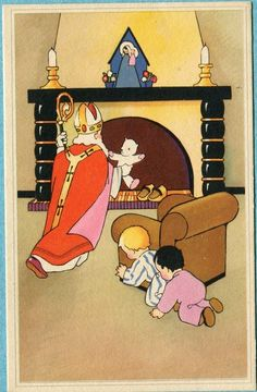 Een Sinterklaas postkaart                lb xxx.