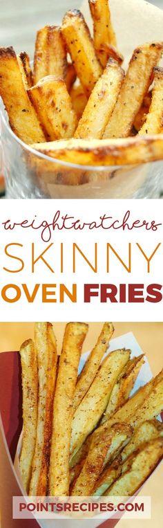 Skinny Oven Fries (Weight Watchers SmartPoints) Source by Skinny Recipes, Ww Recipes, Light Recipes, Cooking Recipes, Healthy Recipes, Healthy Foods, Healthy Options, Potato Recipes, Delicious Recipes