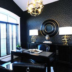Home Office Navy Blue Design, Pictures, Remodel, Decor and Ideas