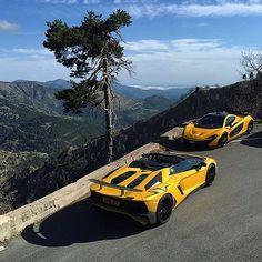#McLaren P1 & #Lamborghini #Aventador SV