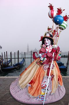 Painted face masks, colorful costumes, riding the gondolas to the Doge's Palace, dance all night, ahh, #Venice Carnival #Dream www.switchfly.com/dream