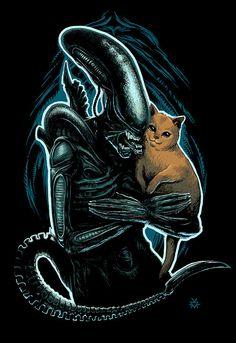 Alien and Jonesy by KillKennyKat
