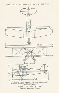 Vintage Airplane Diagram, Set of 3, $10.00. Super cute for a boy's room