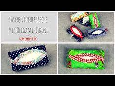 ᐅ Näh-Video: Taschentücher-Tasche Even sewing beginners can sew this sweet handkerchief bag! With free sewing pattern and video tutorial. Sewing Patterns Free, Free Sewing, Sewing Tutorials, Fabric Crafts, Sewing Crafts, Sewing Projects, Origami Box With Lid, Clutch Bag, Crossbody Bag