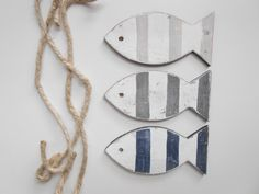 Nautical Nursery Fish ~ Coastal Holiday ~ Nautical Fish Ornament on Etsy, $9.00