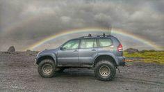 """Land Cruiser 38"""" Amazing Tours Iceland #rainbow #amazingtours #iceland #jeep"""