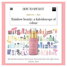 Financial Times features MZ Skin Rest & Revive night serum as a must-have skin-repairing product to add to your skincare routine!  @financialtimes @MZSkinOfficial #MZSkin #DrMaryamZamani #MZGlow #Glowingskin #SensitiveSkin #SkincareLuxury #Skincare #SkincareRoutine #BrightSkin #hyperpigmentation #SunProtection #collagen #detox #rejuvenate Financial Times, Bright Skin, Stem Cells, Skincare Routine, Sun Protection, Glowing Skin, Collagen, Sensitive Skin, Serum