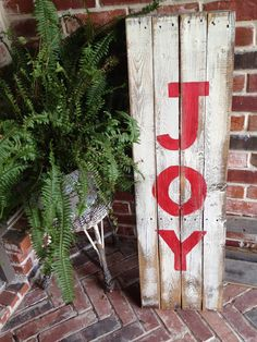 JOY reclaimed wood holiday sign Christmas is coming. You build and goostina and I will paint