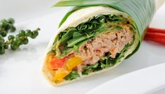 Tuna Wrap 282 cals i would wrap it with lettuce or chia and flax seed tortilla