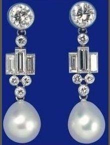 Bharain Pearl Drop Earrings on loan from Queen Elizabeth