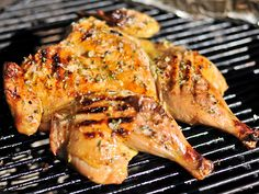 Grilled Chicken Under a Brick with Lemon, Garlic, and Rosemary