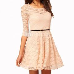 Do you like this cute lace short dress? We have it in different colors. So check it out by clicking on the picture!