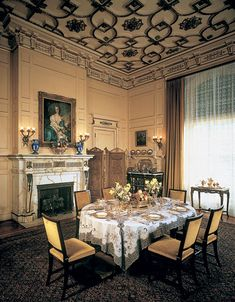 Breakfast Room, Flagler Mansion in West Palm, FL. Great museum. I love the ceiling.