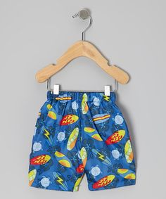 Take a look at this Royal Surfboard Swim Trunks - Infant, Toddler & Boys by water wear on today! Toddler Fashion, Kids Fashion, Toddler Boys, Infant Toddler, Baby Swimwear, Baby Boy Swag, Surfer Dude, Kiddie Pool, Water Shoes