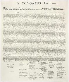 By issuing the Declaration of Independence, adopted by the Continental Congress on July 4, 1776, the 13 American colonies severed their political connections to Great Britain. The Declaration summarized the colonists' motivations for seeking their independence. By declaring themselves an independent nation, the American colonists were able to conclude an official alliance with the government of France and obtain French assistance in the war against Great Britain.