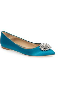 8969e11be54 Badgley Mischka  Davis  Crystal Embellished Pointy Toe Flat (Women)  available at