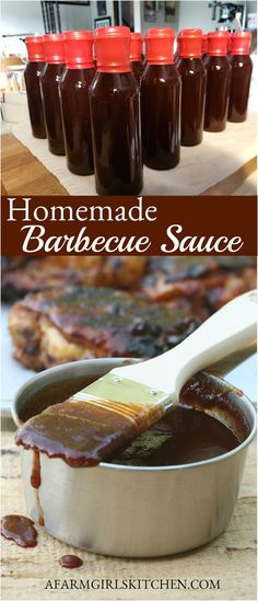 Home Made Bbq Sauce, Make Bbq Sauce, Homemade Bbq Sauce Recipe, Homemade Baked Beans, Barbecue Sauce Recipes, Bbq Sauces, Easy Barbecue Sauce Recipe, Grilling Recipes, Barbecue Sauce For Ribs