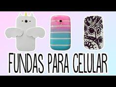 Fundas para celulares - decora tu celular - Tutoriales Belen - YouTube