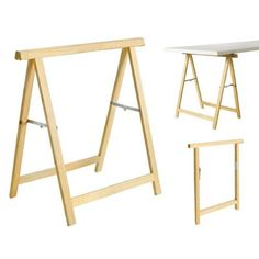 Wolfpack 05110500 - Trestle (Wood, 75 x 75 cm High) West Wittering, Table Legs, Color Blocking, Colour Block, Wardrobe Rack, Diy Furniture, Bar Stools, Wood, Home Decor