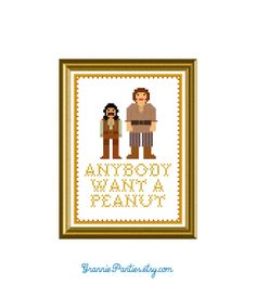 PDF PATTERN ONLY Princess Bride anybody want a peanut - counted cross stitch pattern  5x7. $5.00, via Etsy.