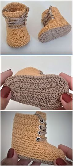 Crochet Baby Combat Boots - Baby Boots Combat Crochet crochet ideas for bab.Crochet Baby Combat Boots - Baby Boots Combat Crochet crochet ideas for baby room Crochet Baby Combat Boots - Claire C. Crochet Baby Boots, Crochet Baby Clothes, Crochet Slippers, Booties Crochet, Crochet For Baby, Crochet Baby Stuff, Crochet Slipper Boots, Crochet Summer, Baby Patterns