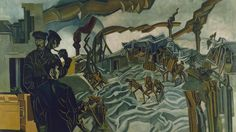 A Battery Shelled by Percy Wyndham Lewis 1919