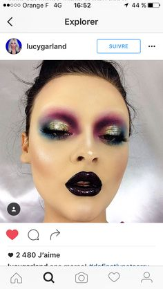 Tribal Fusion Make-up la diva nails hornchurch - Diva Nails 20s Makeup, Drag Makeup, Runway Makeup, Makeup Art, Hair Makeup, Makeup Goals, Makeup Inspo, Makeup Ideas, Helloween Make Up