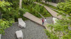 Symantec Chengdu Campus by SWA « Landscape Architecture Works Architecture Tumblr, Landscape Architecture Design, Chengdu, Contemporary Landscape, Urban Landscape, Planting Plan, Urban Park, Modern Landscaping, Parcs