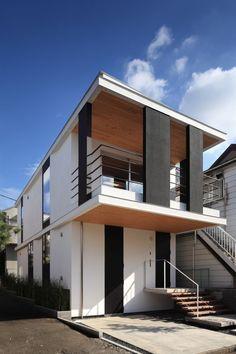 Jun'ichi Ito Architect & Associates. 2010. Asaka-shi Saitama, Japan.  Layers of wood construction, and cantilever.