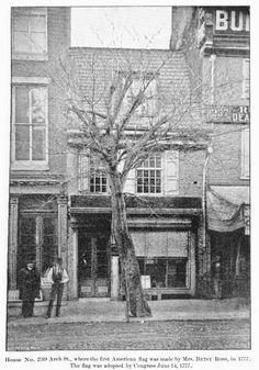 early photo of the betsy ross house, philadelphia, 1893 Local History, History Facts, Philly Pa, Historic Philadelphia, Los Angeles Hollywood, City Landscape, Historical Photos, American History, Alaska