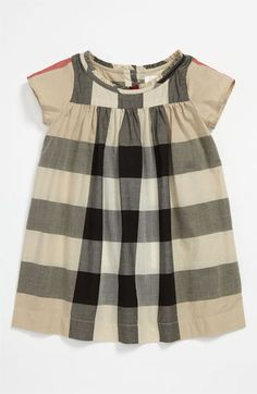 burberry 'delia' infant dress. perfect for holiday pictures with red tights and a red bow!