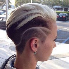 girl short hair shaved sides - Google Search