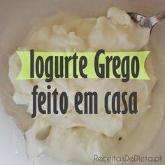 Faz Iogurte Grego Magro em Casa Salty Foods, Breakfast Snacks, My Recipes, Healthy Life, Rice, Cheese, Meat, Chicken, Pickles