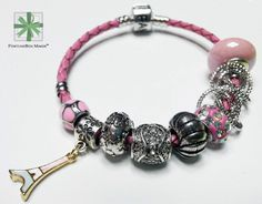 [FortuneBox_Maker]'The Magic Bracelet For®' LOVE, Cute Pink & Silver Bracelet    #Handmade #PandoraStyle