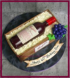 Grange Birthday Cake Wine Bottle
