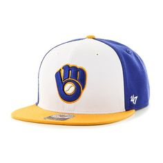 bae3d1c2a65 Milwaukee Brewers Amble Captain Gold 47 Brand Adjustable Hat