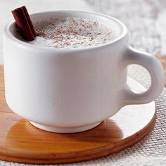 Stay warm this season with this cozy White Hot #Chocolate. More warm #holiday drinks: http://www.bhg.com/recipes/drinks/seasonal/slow-cooker-drinks/?socsrc=bhgpin110112whitehotcocoa#page=9